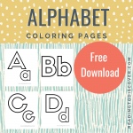 Alphabet Coloring Page