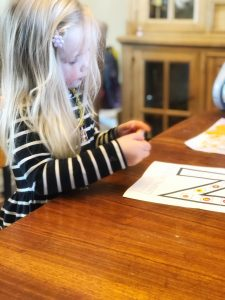 N is for Numbers preschool activity