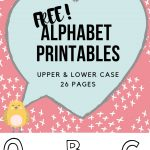 preschool activity alphabet printable