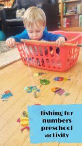 Fishing for numbers preschool activity