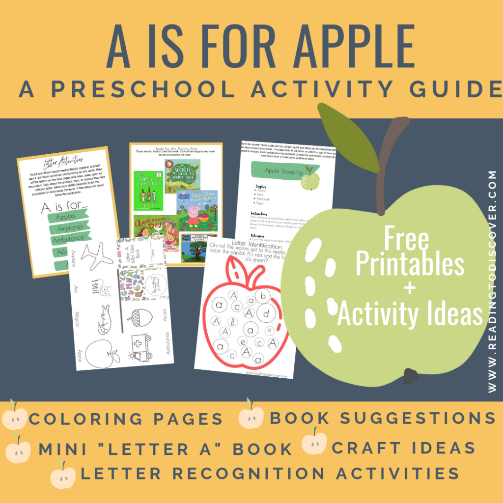 a is for apples preschool activity guide