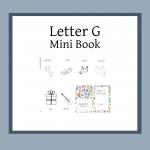 letter g mini book