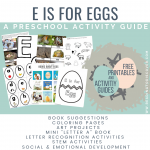 letter e preschool eggs graphic