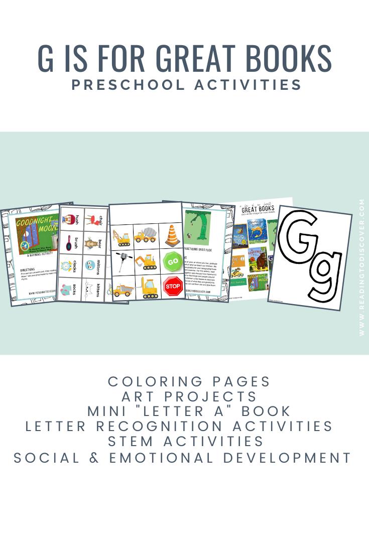 G is for Great Books! Letter G Preschool Activities