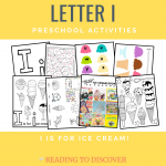 letter i ice cream preschool activities