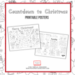 christmas activities for kids printable posters
