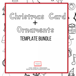 christmas activities for kids cards template