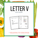 letter v mini book