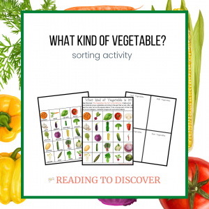 vegetable type sorting activity preschoolers
