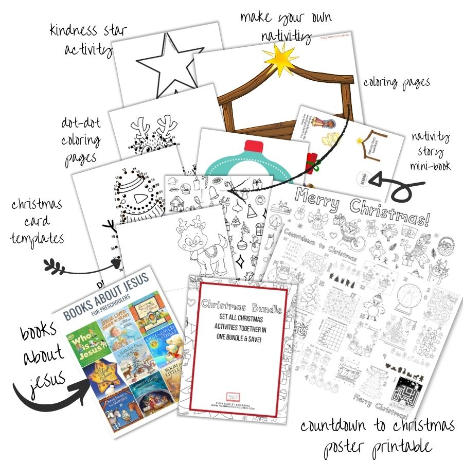christmas activities for kids bundle