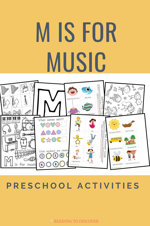 M is for Music Preschool Activities